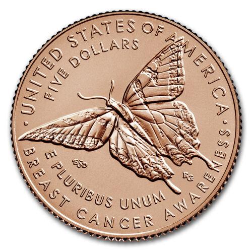 2018 Breast Cancer Awareness $5 Gold BU SKU#159204 Box /& COA