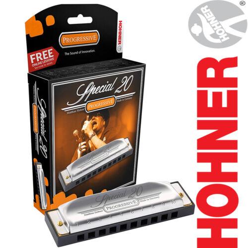 NEW Hohner 560PBX-G Progressive Special 20 Key of G 20-Key Harmonica