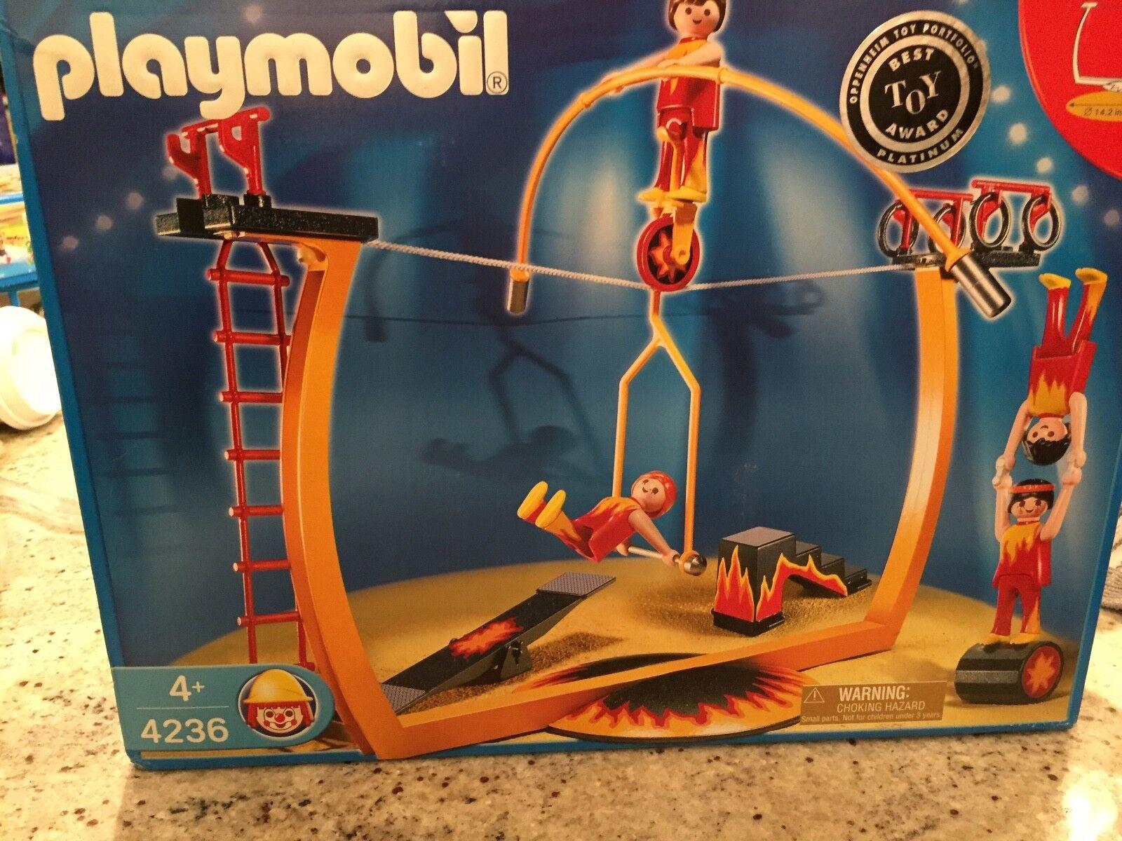 NIB - NEW NEVER OPENED Playmobil Circus Tightrope Acrobat Set Set Set Unicycle Set 5fe49b