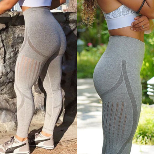 HOT Womens High Waist Yoga Pants Seamless Leggings Fitness Gym Stretch Trousers