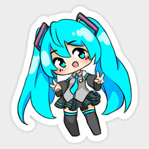 Image Is Loading Hatsune Miku Anime Chibi Cute Vinyl Decal Room