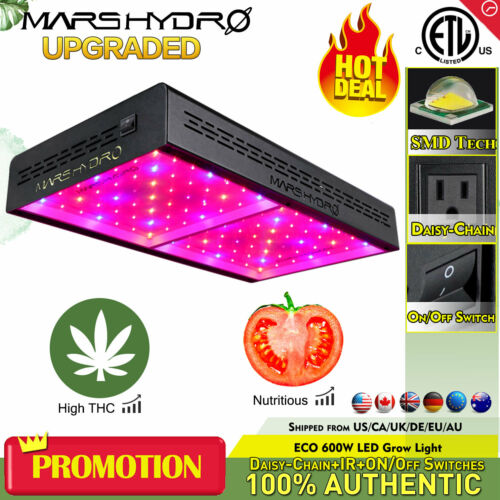 Mars Hydro ECO 600W LED Grow Light Full Spectrum Lamp for Indoor Plant Veg Bloom