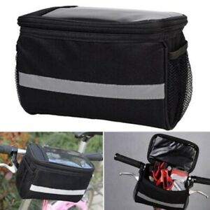 Bicycle Handlebar Basket Bag Bike Reflective Front  Pannier Tube Waterproof New