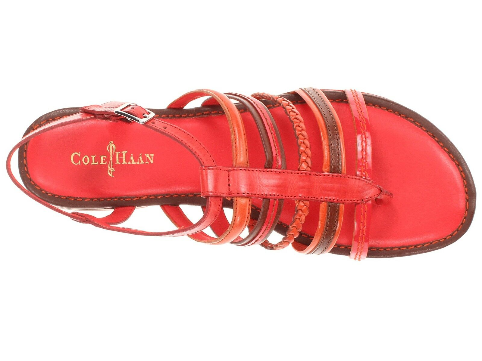Cole Haan Nassau Nassau Nassau Flats Slingback Sandals Womens Cherry orange 7 NEW IN BOX 2d032f