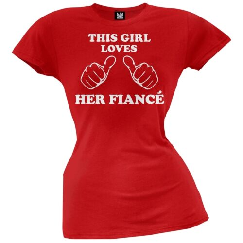 Valentine/'s Day This Girl Loves Her Fiance Juniors T-Shirt