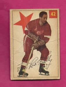 1954-55-PARKHURST-42-RED-WINGS-RED-KELLY-CARD-INV-A7565