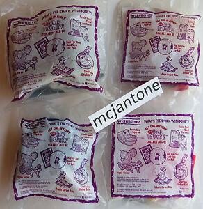 MIP-LOT-4-Dairy-Queen-1999-WISHBONE-Robin-Hood-ALADDIN-Magic-Carpet-TROJAN-Horse