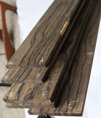 """Ziricote guitar fingerboard blank 2.5x20.5/"""" ZCF16"""