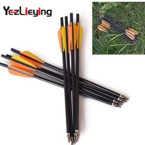 Hunting archery 6/12pcs13inch fiberglass arrow Crossbow Bolts