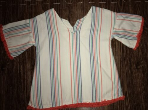 Gymboree Girls Swimsuit Coverup White Striped Beach 4 7-8 14 5-6