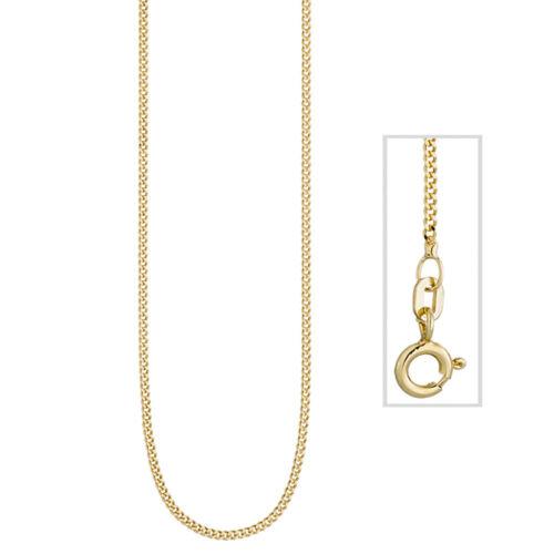 Panzerkette 925 Sterling Silber gold vergoldet 1,3 mm 45 cm Kette Halskette