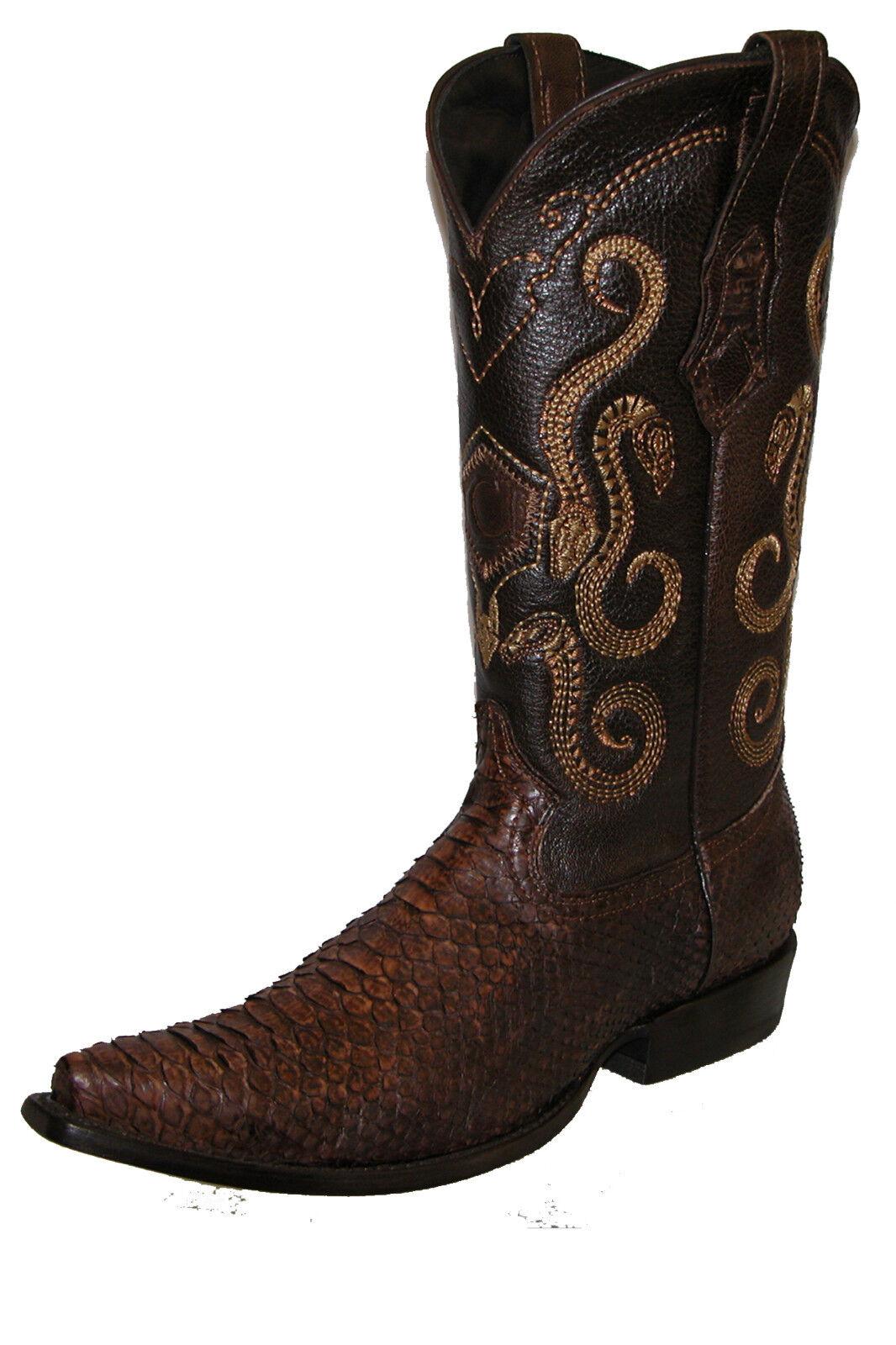 Genuine Python Traditional Western Stivali made by Cuadra boots
