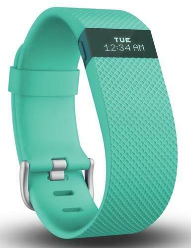 Fitbit Charge HR Heart Rate Fitness Activity Sleep Tracker Wristband TEAL LARGE