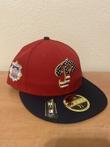 New-Era-59fifty-Philadelphia-Phillies-Hat-Fourth-Of-July-Collection-New-W-Tags