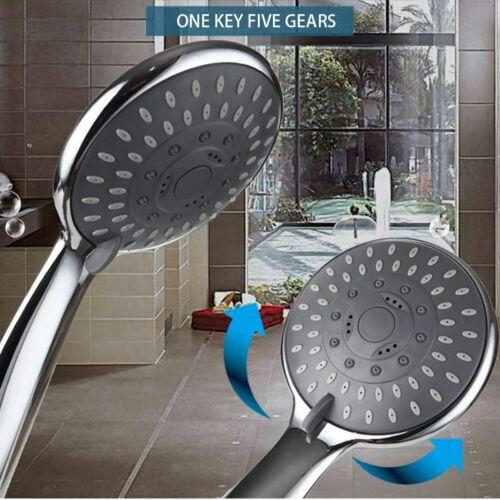 5 Setting Shower Head High Pressure Bathroom Hand Held Showerhead Water Saving