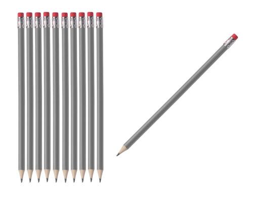 ohne Herstellerlogo lackiert grau Farbe HB 50 Bleistifte mit Radierer