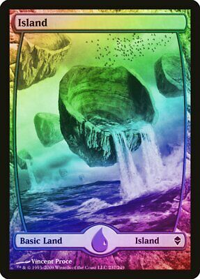 NM MTG Zendikar Magic 5x Island 237