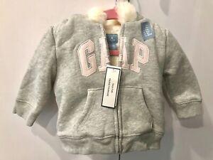 Gap Zip Up Hoodie Fur Hood 3yrs