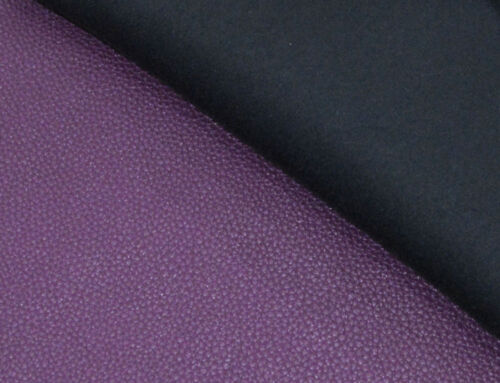pb311r Purple Round Faux Leather Soft Thick Mattresses Cushion Cover Custom Size