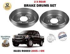FOR ISUZU RODEO PICKUP 2.5TD 3.0TD 4X4 2005-->ON NEW 2 X REAR BRAKE DRUMS SET