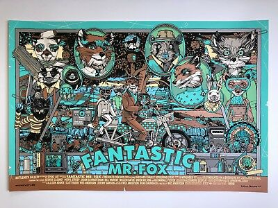 Tyler Stout Fantastic Mr Fox Variant Edition Wes Anderson Movie Poster Fmf Art Ebay