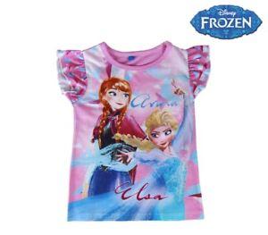 T-shirt-bambina-FROZEN-Elsa-e-Anna-2200001949-in-cotone-taglia-da-3-a-7-anni