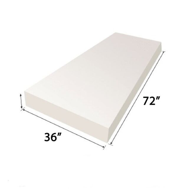 "Foam Upholstery Medium Density Firm Foam Dinning Chair Cushion Square 53/"" x 75/"""