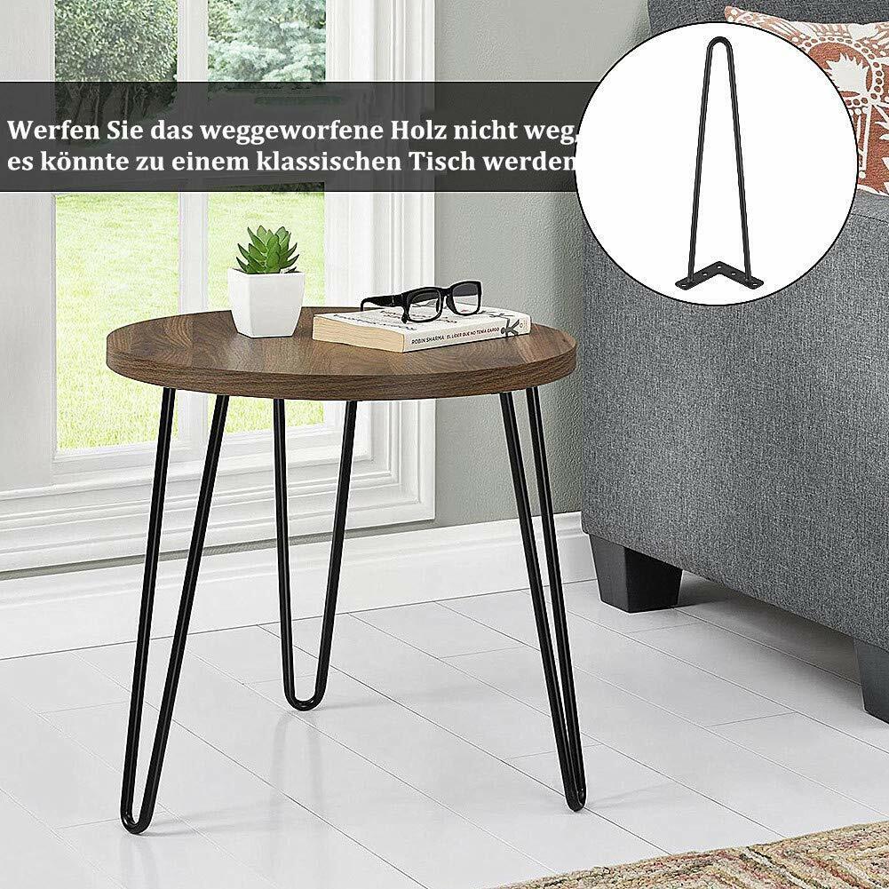 60cm Hairpin Legs Tischbeine Tischgestell Haarnadelbeine Esstisch Metall Füße DE