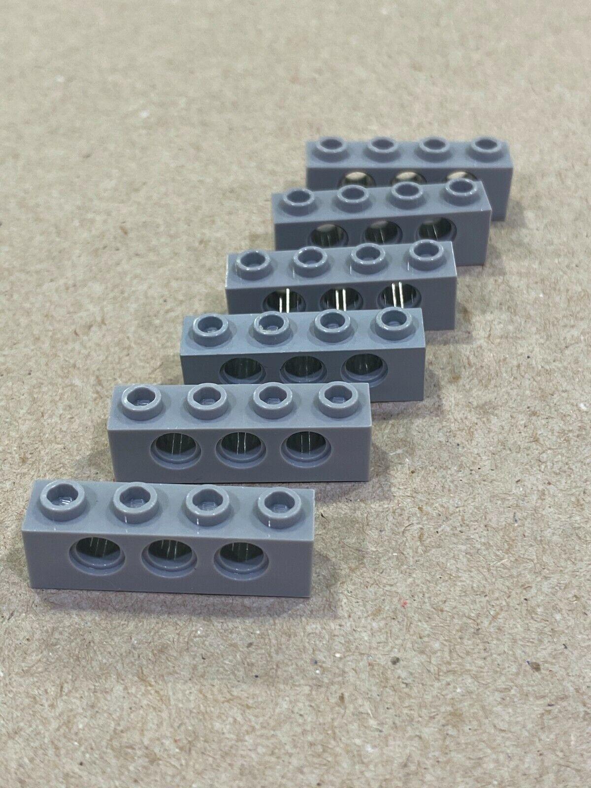 6x 3701 Lego Technic 1x4 Lochstange Lochbalken gelb yellow 370124