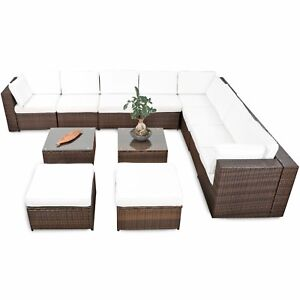 35tlg Xxl Polyrattan Gartenmöbel Garten Eck Lounge Möbel Set