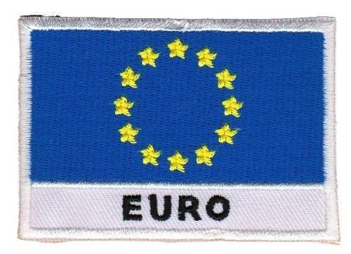 Bb72 bandiera euro Europa ricamate STAFFA immagine Patch applicazione rappezzi DIY