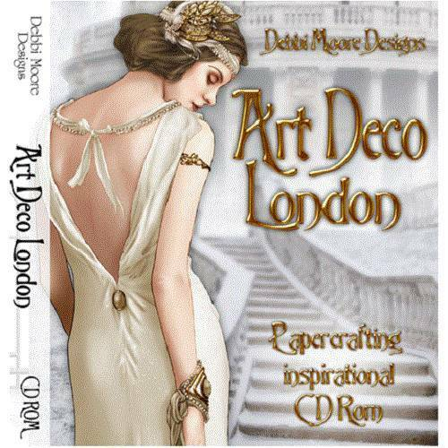 Debbi Moore Designs Art Deco London Papercrafting Inspirational CD Rom (297617)