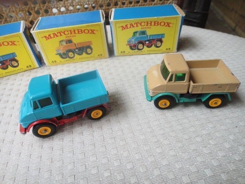 Matchbox Lesney   49 Mercedes-Benz Unimog 1960's lot of 5