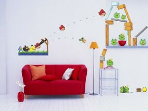 Image Is Loading Huge Angry Birds Decal Removable Giant Wall Sticker