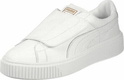 Puma Basket Platform strap white sneakers Women's size 10.5m US Euro 42  190275878500 | eBay
