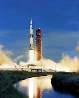 8x10 Nasa Photo: Apollo 15 Saturn V Rocket Launch, Lunar Misson In 1971