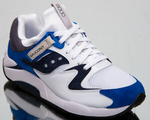 Saucony Grid 9000 Mens White Blue Casual Lifestyle Shoes Sneakers S70439-1