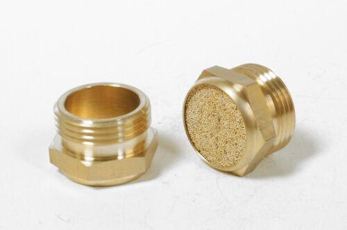 """Sintered Bronze Silencer Pneumatic Air Muffler 1//4/""""  UK Brand New"""