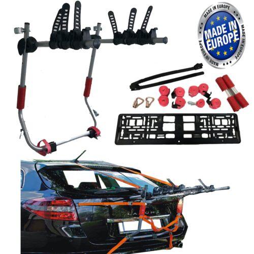 Car Boot 3 BIKE CYCLE CARRIER RACK To Fit Renault Laguna Clio Megane Captur