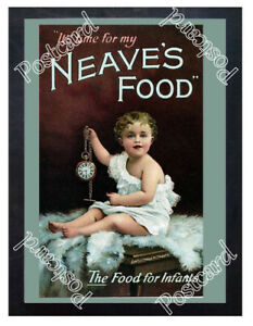 Historic-Neave-039-s-baby-food-circa-1900-Advertising-Postcard