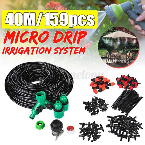 Auto Drip Irrigation System Kit Micro Sprinkler Garden Lawn Plant Self Watering