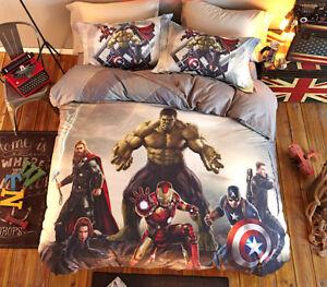 Avengers-C-America-Letto-Copri-Piumino-Copripiumone-Lenzuolo-Duvet-Cover-SERDU06