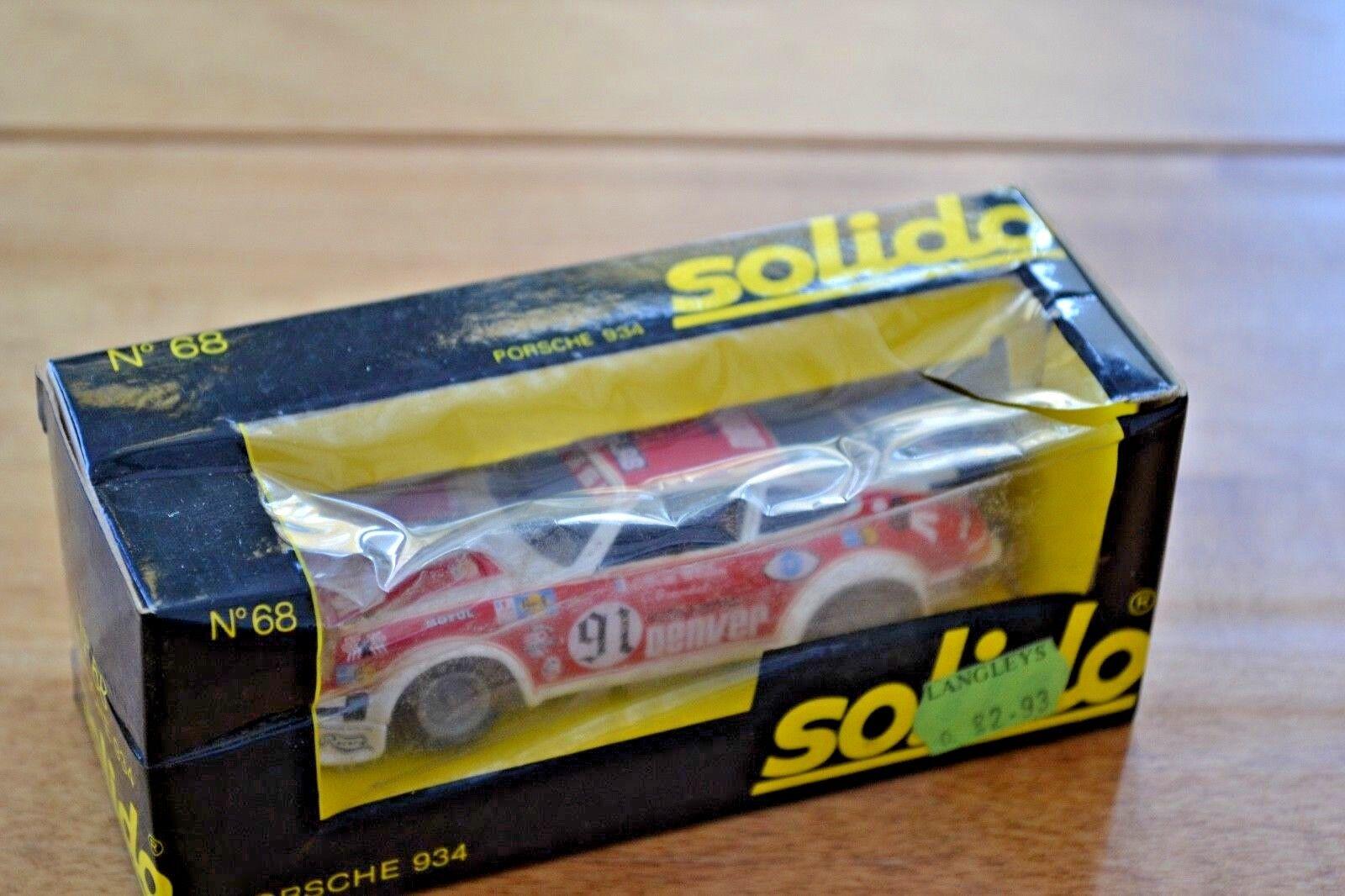 Vintage 1 43 Boxed Solido Porsche 934; No No No 68;  Very good condition 47753f