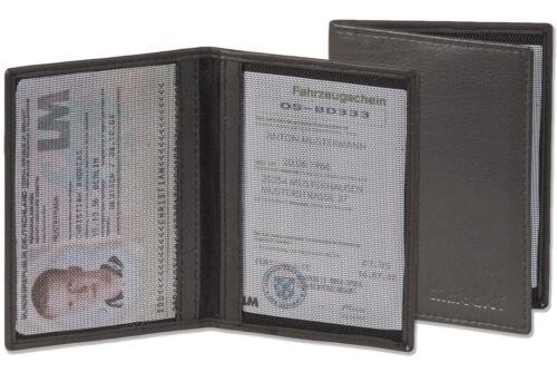 Ausweisetui Rimbaldi® Ausweishülle Ausweismappe aus feinem Leder in Schwarz