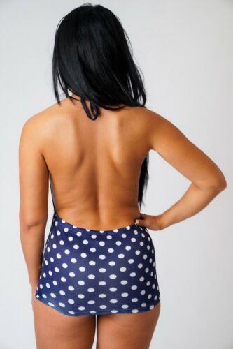 Girls Plunge Neck Micro Mini Dress Women/'s Ladies Club Party Holiday Polka Dot