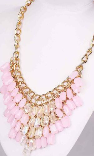 Femme Bijoux Cristal pentand Chaîne Handmade Collier Chunky Mariage Collier 124
