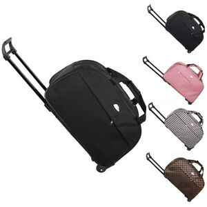 Duffle-Bag-24-034-Rolling-Wheeled-Trolley-Bag-Tote-Carry-On-Luggage-Travel-Suitcase