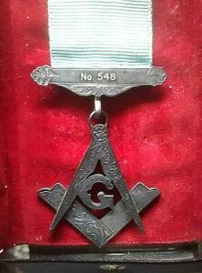 Masonic Vintage Irish Square & Compasses Lodge Number 548 Solid Silver Jewel