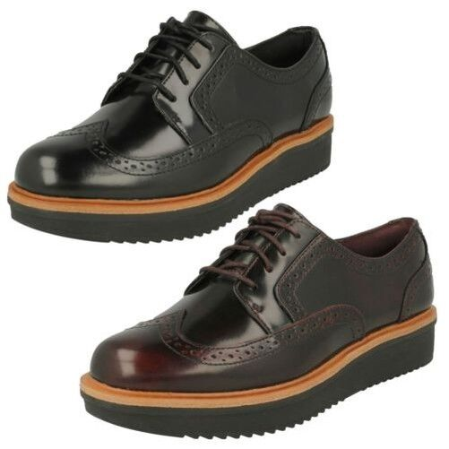 Women clarks casual brogue style shoes-teasdale maira