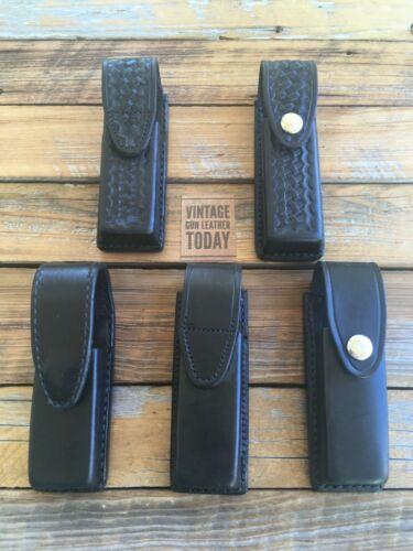 Tex Shoemaker Black Leather Single Magazine Carrier For GLOCK 17 G17 Vertical